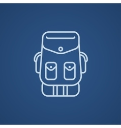 Backpack line icon vector image vector image