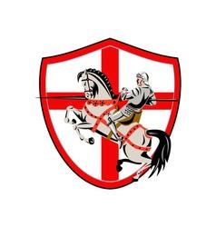 English Knight Rider Horse England Flag Retro vector image vector image
