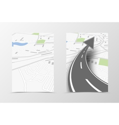 Front and back navigation flyer template design vector image vector image