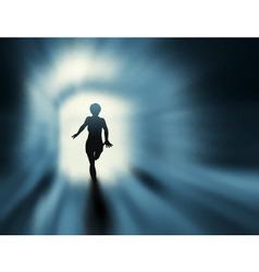 tunnel run vector image