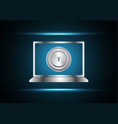 cyber security keyhole laptop vector image vector image