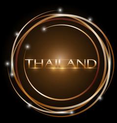 design thailand glowing bright circle vector image