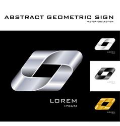 Geometrical sign logo design template black white vector image vector image