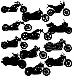motorcycle silhouettes vector image vector image