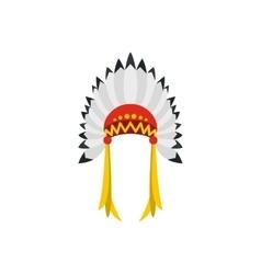 Native American indian headdress icon vector image