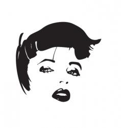 pretty lady vector image vector image