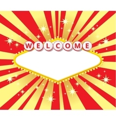 Welcome sign background vector image