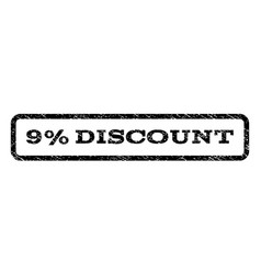 9 percent discount watermark stamp vector