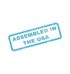 Assembled In The USA Rubber Stamp vector image