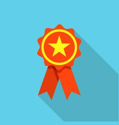 award label icon flat style vector image