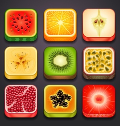 Background for the app icons-fruits part 2 vector