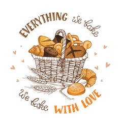 Bakery with text vector