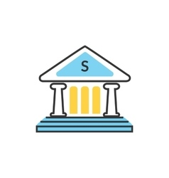 Bank Office Icon vector