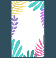 botanic minimal template for stories bright vector image