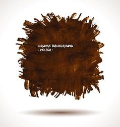 Brown grunge shape vector