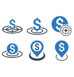 Business Target Flat Icons vector image vector image