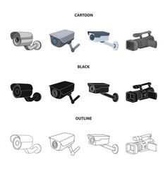 Camcorder and camera icon vector