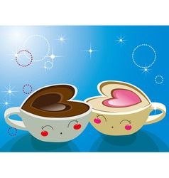 Cappuccino coffee vector