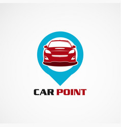 car point with simple concept logo icon element vector image