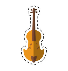 Cartoon fiddle classical music instrument vector