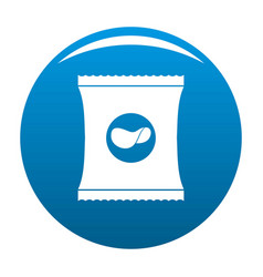 chips icon blue vector image
