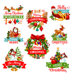 Christmas and new year winter holiday icon design vector