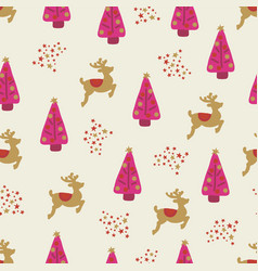 christmas holidays seamless background girl vector image