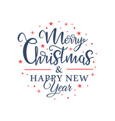 Christmas lettering in shape a circle vector