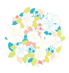 Circle of flowers vector