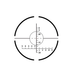 complicated military crosshair gun sight icon vector image
