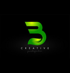 creative b leaf letter logo icon design in green vector image
