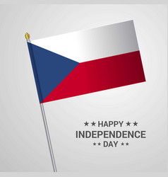Czech republic independence day typographic vector
