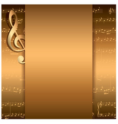 Dark gold background with music notes - musical vector