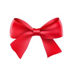 decorative red ribbon bow vector image