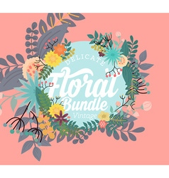 Delicate Floral Banner vector image