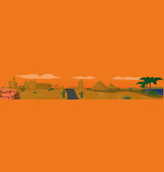 Desert panoramic view vector