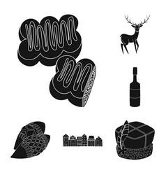 Design of heritage and landmarks logo set vector