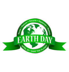 earth day icon isolated on white background vector image
