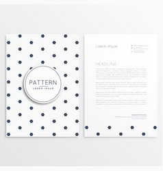elegant letterhead design with front and back vector image