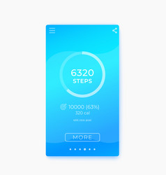fitness app activity tracker step counter ui vector image