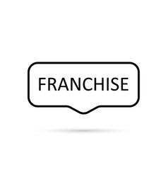 franchise icon flat on white background vector image