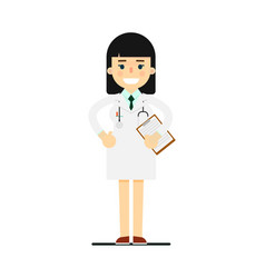 friendly young pharmacist in medical uniform vector image