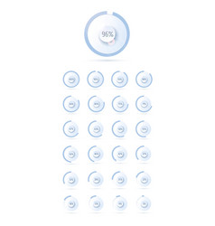 full business charts shiny soft blue set circle vector image