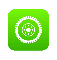 gear wheel icon digital green vector image