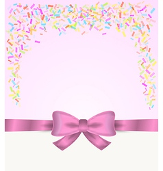 Gift card and confetti vector