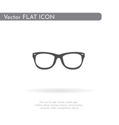 glasses icon for web business finance and vector image