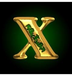 golden letter x vector image