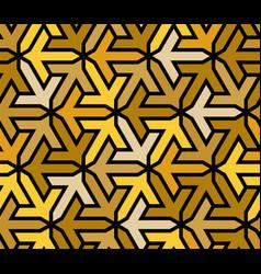 Golden yellow geometric islamic pattern vector