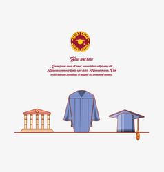 Graduation card with suit uniform vector
