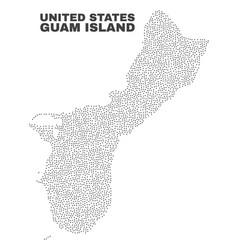 Guam island map of dots vector